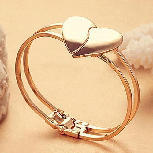 Coeur d 39 amour femmes bracelet plaqu or multicouche cha ne achat vente bracelet gourmette - Ceour d amour ...