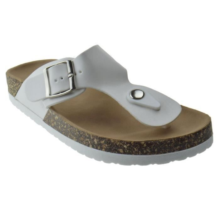 Women's Dime 42 T-strap Comfort Slip On Sandals OHL8V Taille-37 1-2