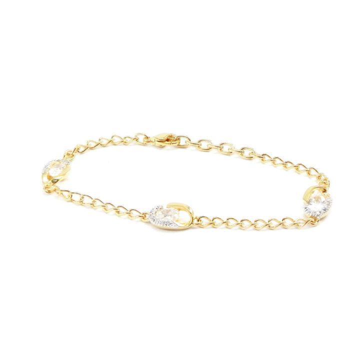 Bracelet plaqué or Scarlett blanc