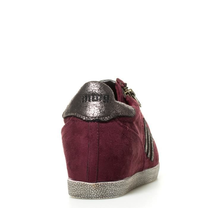 Mustang - Chaussures coin bourgogne Rowy -Hauteur: 5cm