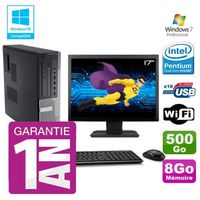 UNITÉ CENTRALE + ÉCRAN PC Dell 790 DT Intel G630 8Go Disque 500Go Graveur