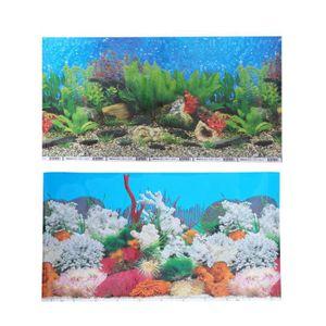 DÉCO ARTIFICIELLE Aquarium Fish Tank Background Sticker 3D Adhésif D