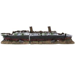 AQUARIUM Titanic perdu épave de bateau bateau aquarium déco