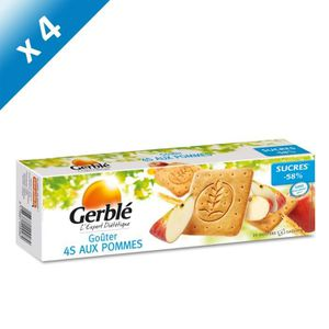BISCUITS SECS GERBLE Biscuits goûter 4S aux pommes - 372 g x4