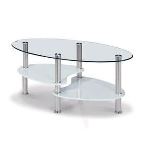 table basse en verre ovale achat vente table basse en verre ovale pas cher soldes d s le. Black Bedroom Furniture Sets. Home Design Ideas