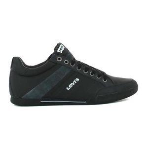 BASKET Basket basse levis turlock refresh noir cuir 22286