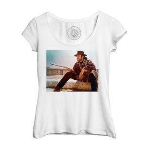 T-SHIRT T-Shirt Femme Photo de Film Western Clint Eastwood