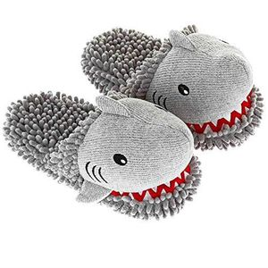 CASQUE MOTO SCOOTER Women's Shark Animal Fuzzy Friends Warm Slippers C