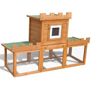 CLAPIER Grande Cage Clapier Extérieur pour Lapins en Bois