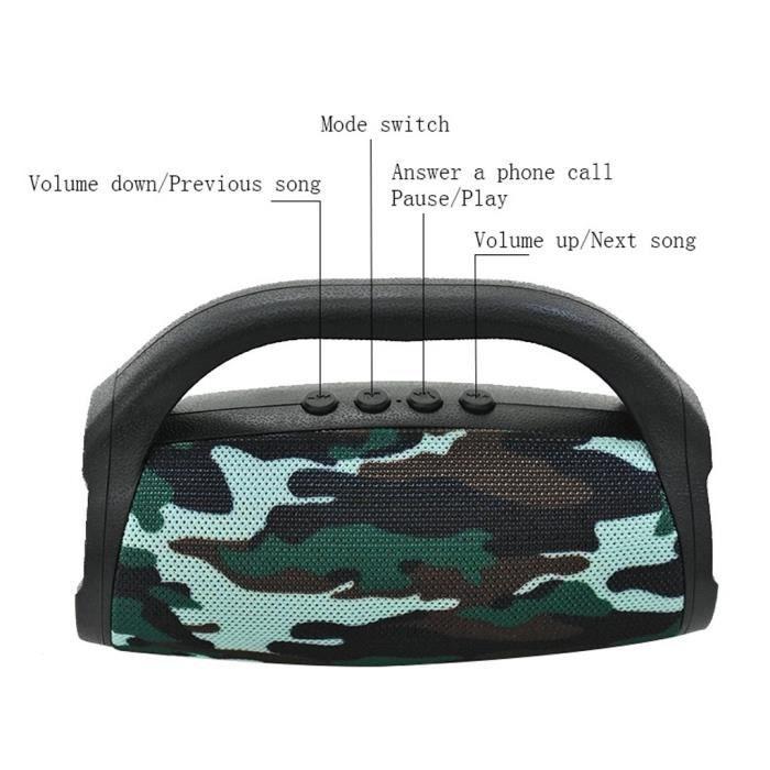 Portable Bs118 Bluetooth Haut-parleur Étanche 3d Surround Sans Fil