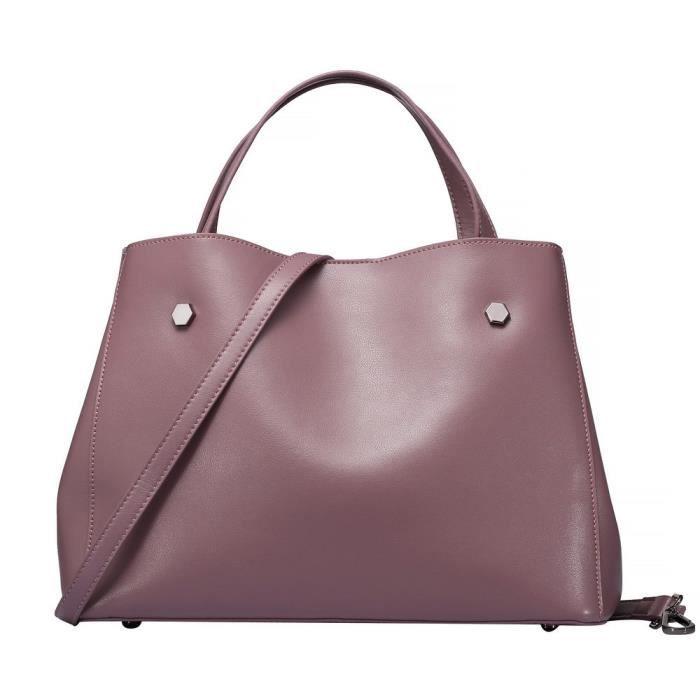 Sacs véritables épaule en cuir Top-poignée sac à main simple mode sac fourre-tout S7KOP