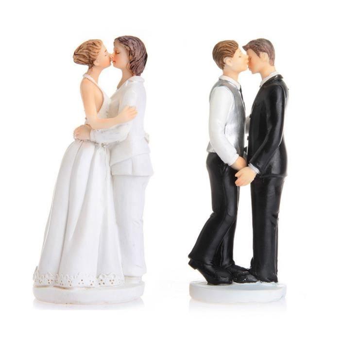 Figurine Gateau De Mariage Couple Femme