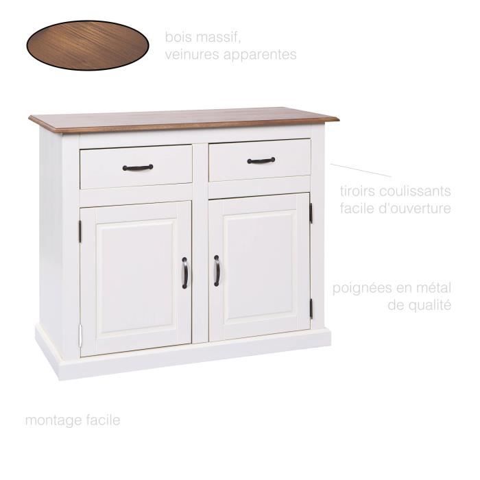 buffet commode bahut vaisselier bas haut rangement 2. Black Bedroom Furniture Sets. Home Design Ideas