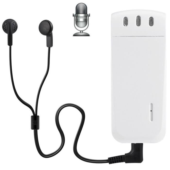 (#63) Mini Professional 16gb Digital Voice Recorder With Belt Clip, Support Wav Recording Format(white)