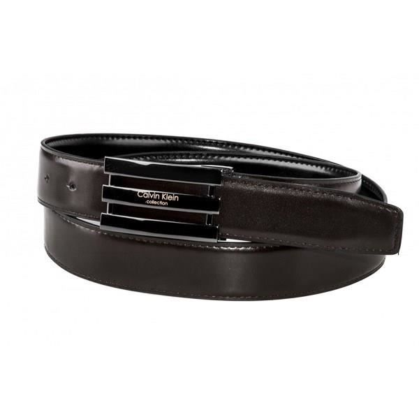 f9134b211b4d Calvin Klein - Ceinture - D46 - Homme - Cuir - Noir Marron - Taille Unique