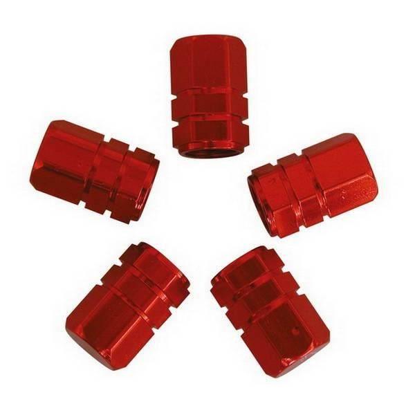 bouchon cache valve piston pour jante pneu 5pc rouge achat vente enjoliveur bouchon cache. Black Bedroom Furniture Sets. Home Design Ideas