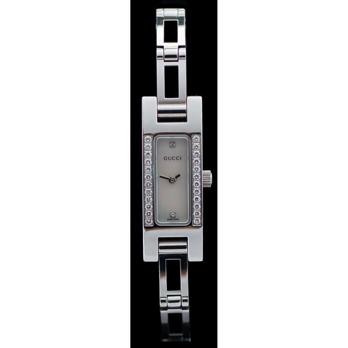 ... G-Line YA109526 Montre Gucci en acier et diamants ... 2e01c25d5bc