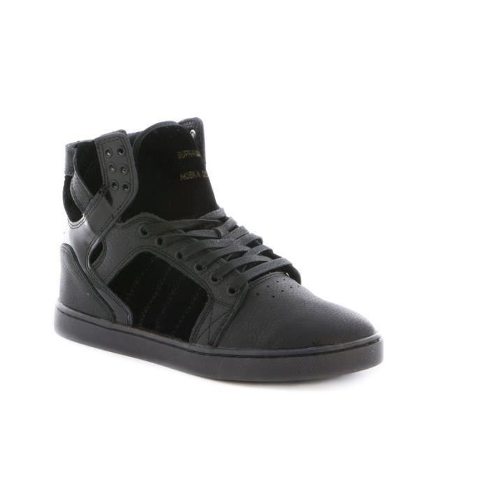Basket Supra Skytop LX en cuir e... Black