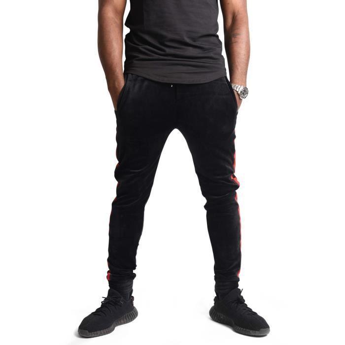 Bas de jogging velvet bandes latérales Homme Collection Capsule Gradur Project  X Paris (XL - Noir) 993c03d90fc6