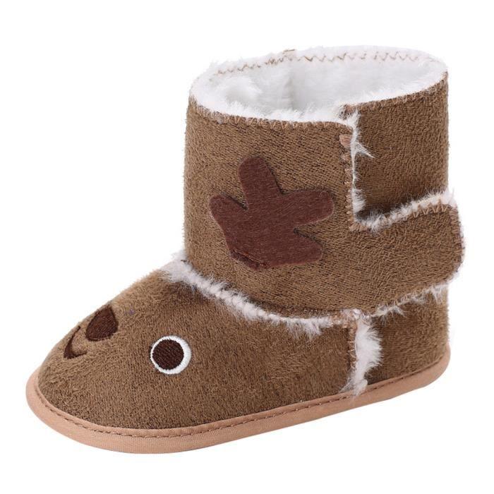 GEMVIE Botte de Neige Bébé Fille Garçon Velours Elk Boots de Cartoon Chaud d'Hiver Mignon Mode