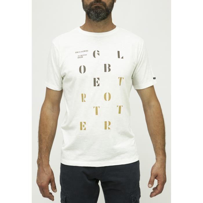 Rica Homme Achat French Shirt T Soldes Vente Lewis Blanc tshdxrQC