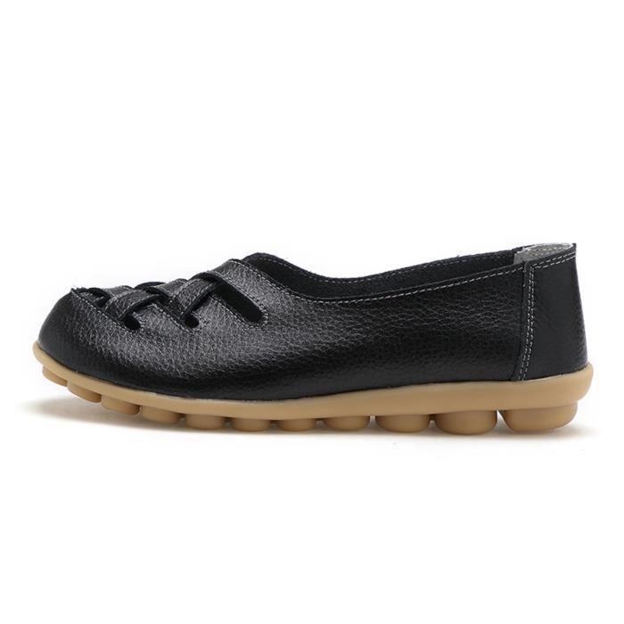 Confort de marche Casual Flat Mocassins FYZKI Taille-38 1-2