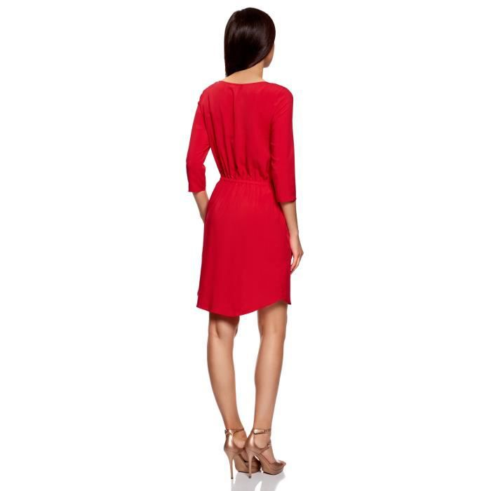 Femmes manches 3-4 Viscose Robe 2VHNZY Taille-32