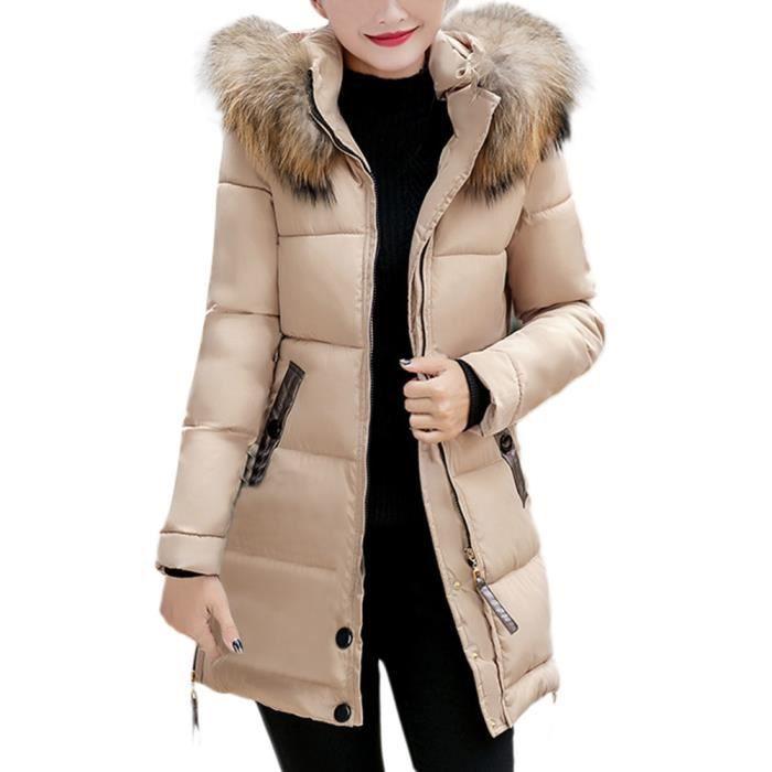 Bas Manteau zy4200 Le Long Capuche Mince Hiver Outwear Parka Chaud Femmes À Veste Dames Vers OWFq1qY4w
