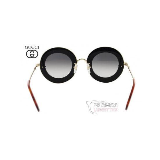 Lunettes de soleil Gucci L aveugle par amour GG0113S-001 - Achat   Vente  lunettes de soleil Femme - Cdiscount 53991ea510fb