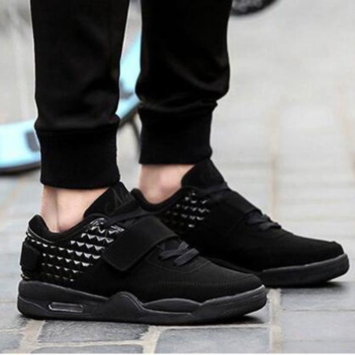 Basket Homme Femme Chaussures de sport Running chaussure Nouveau-Noir