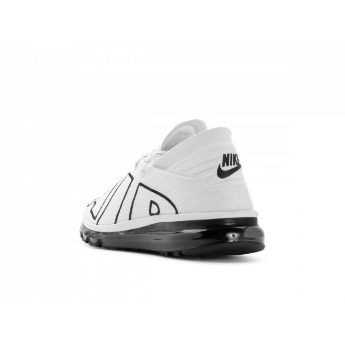 Baskets Nike Air Max Flair, Modèle 942236 101 Blanc.