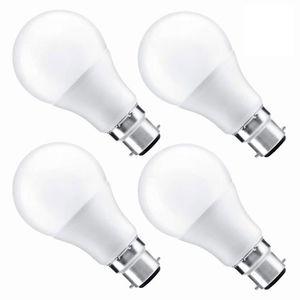 AMPOULE - LED Marchelec 4 Pack Ampoule LED à baïonnette B22 A60