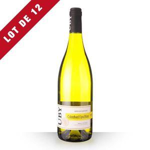 VIN BLANC 12X Uby n°3 Colombard Blanc 75cl IGP Côtes de Gasc