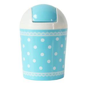 POUBELLE - CORBEILLE 2PCS Mignon Mini poubelle poubelle avec couvercle
