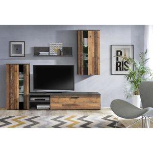 MEUBLE TV MURAL ARANTUS Ensemble meuble TV - 213 x 184 x 41,3 cm