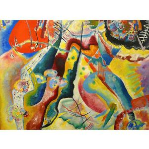 PUZZLE Puzzle 1000 pièces : Kandinsky : Painting with Red