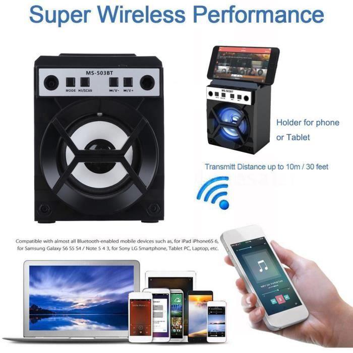 Extérieur Sans Fil Bluetooth Haut-parleur Portable Super Bass Avec Radio Usb - Tf Aux Fm_yx*575