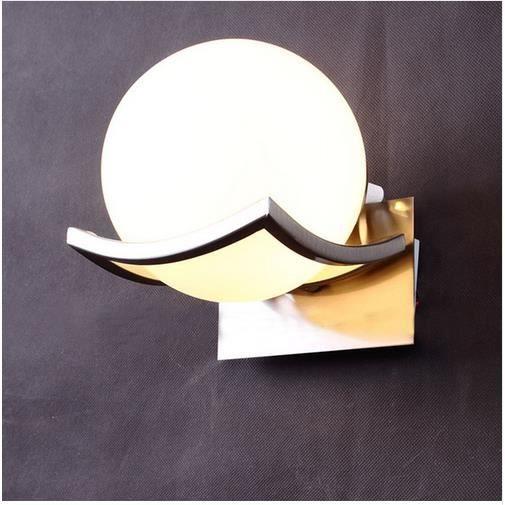 Passage Chambre De Murales Pour Appliques Lampe Couloir Boule Chevet Led Verre 5Ajq43RL