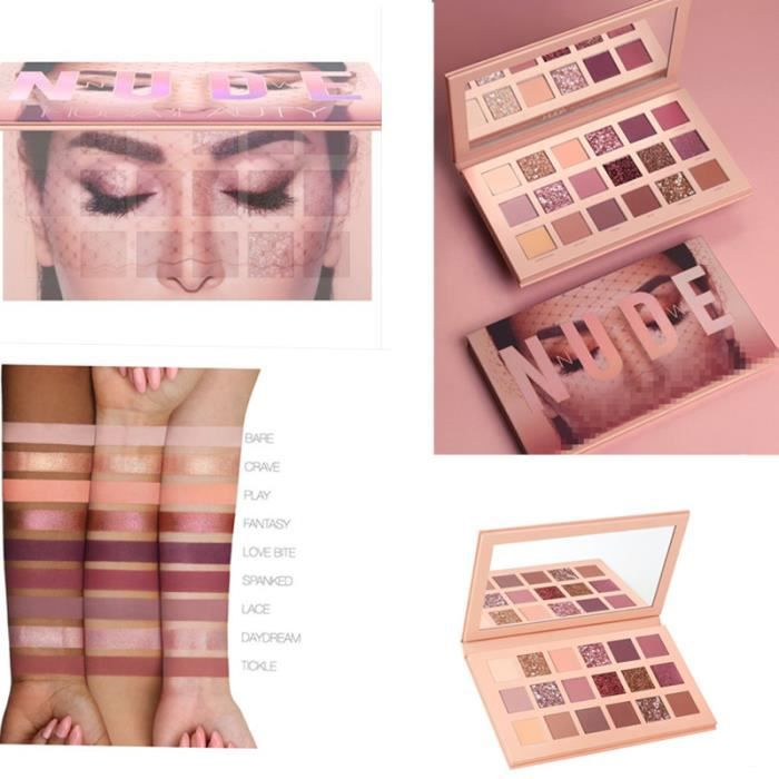 Nude Huda Palette New Beauty的the 18 Eyeshadow Color tdxQrhsCB