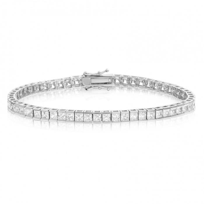 BestOfBijoux® - Cyrilia - Tennis Bracelet - Bracelet Femme - Oxyde de Zirconium [18cm/7inch]