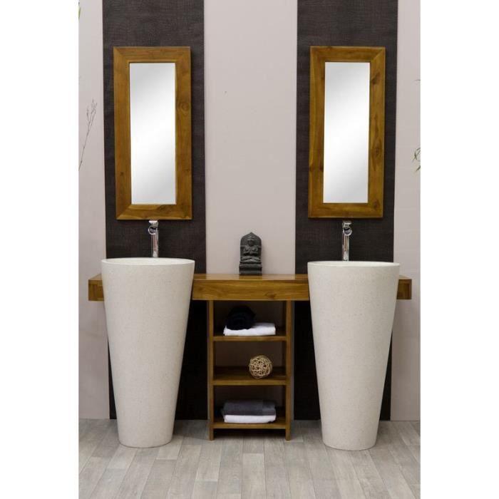 Meuble salle de bain en teck double vasque OSIRIS Achat Vente