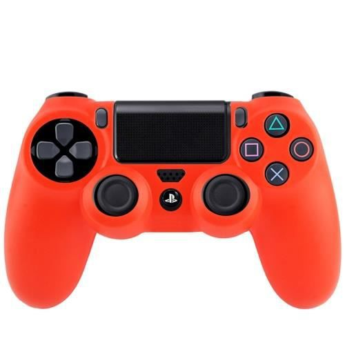 Ps4 coque housse silicone manettes rouge prix pas cher for Housse manette ps4