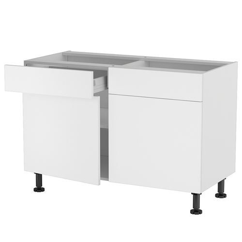 meuble cuisine bas 120cm 2 tiroirs portes 60 70 achat. Black Bedroom Furniture Sets. Home Design Ideas