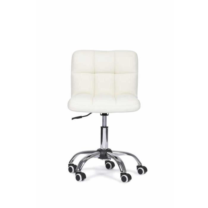 Chaise De Bureau Zuni Blanc Achat Vente Chaise De Bureau Blanc
