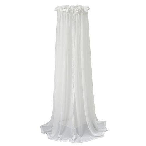 jollein ciel de lit 155 cm voile blanc blanc achat. Black Bedroom Furniture Sets. Home Design Ideas