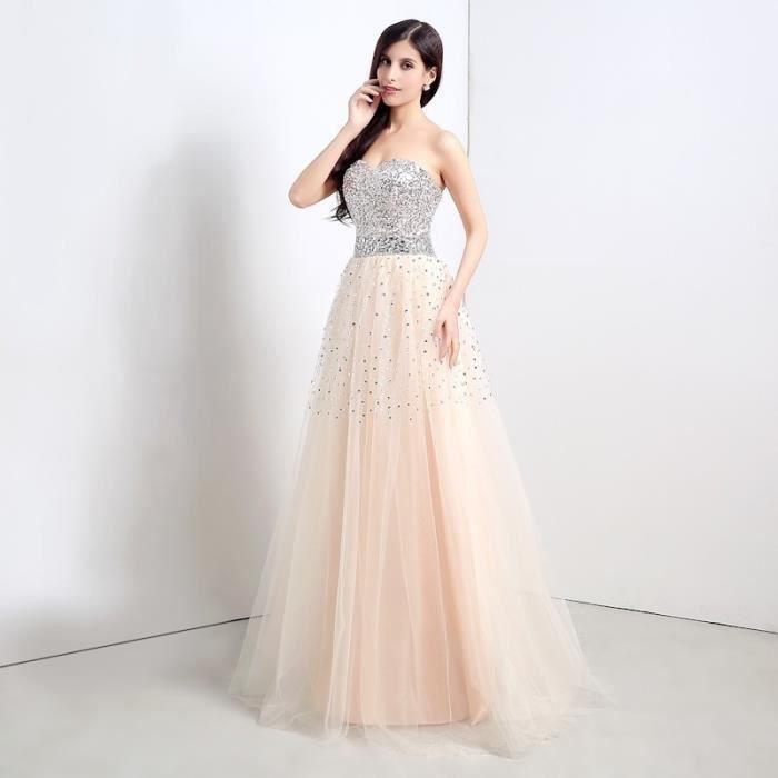 robe champagne tulle de soir e robes de mari e robe de cocktail robe de soir e robe longue. Black Bedroom Furniture Sets. Home Design Ideas