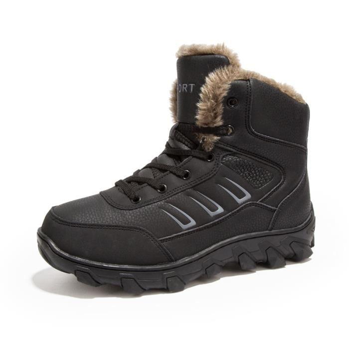 l'hiver Chaussures Bottes Bottes étanches chaudement Bottes Chaussures mode homme avec courtes pour Chaussures Bottes coton ngxnHF