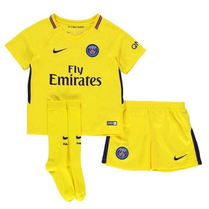 Mini-Kit Garcon Nike Away PSG Paris Saint-Germain Saison 2017-2018 ... c18e049a443