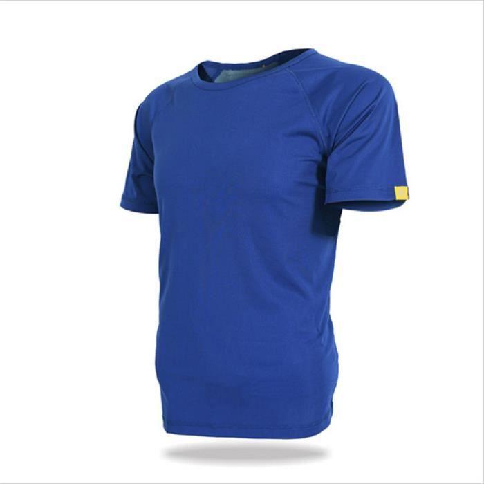 T-Shirt Homme De Loisirs En Plein Air Manches Courtes D'été DTG-y010bleu-M