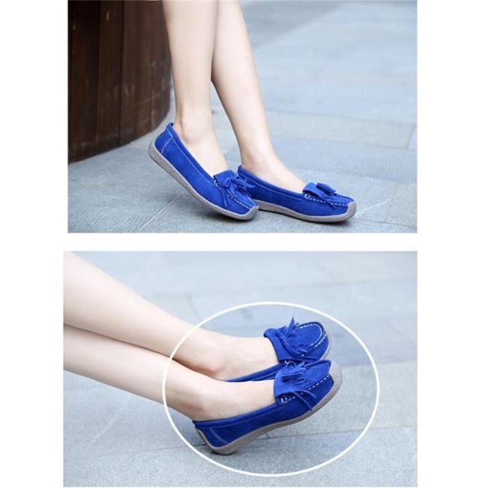 Loafer Femme Loisirs Elégant Classique Loafers Rétro Simple Léger Confortable Hiver Chaussure Haut qualité Taille 35-40